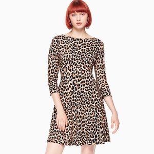Kate Spade New York Leopard Print Ponte Dress